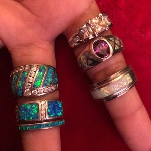 Assorted 6 Sterling Silver Rings